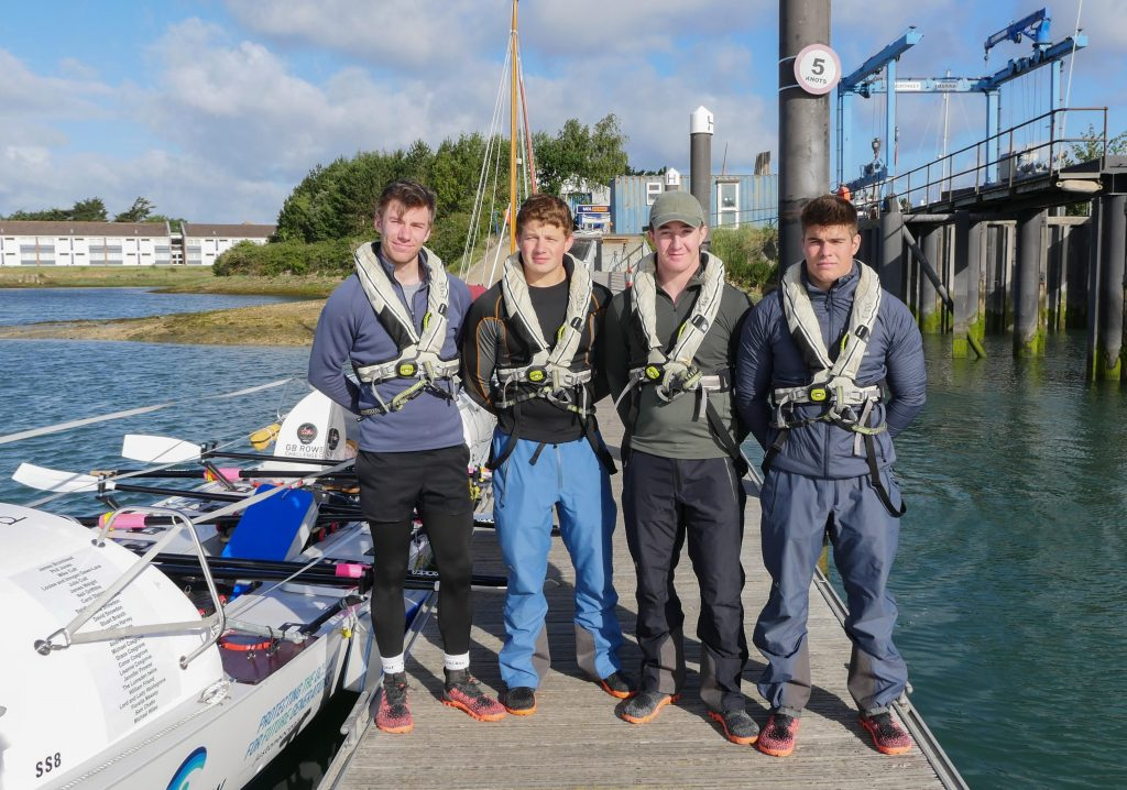 Exe Endurow Team: (from left to right) Harry Lidgley, Charles Bromhead, Oliver Dawe-Lane, Arthur Chatto